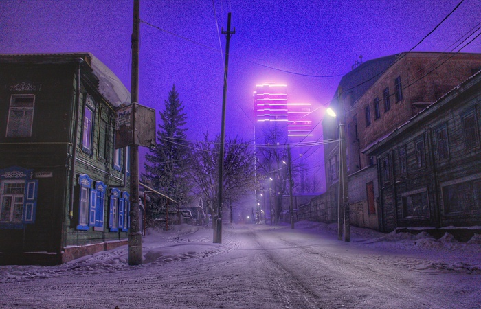 Киберпанк, который мы заслужили Фотография, Ночь, Эстетика ебеней, Туман, Киберпанк, Барнаул