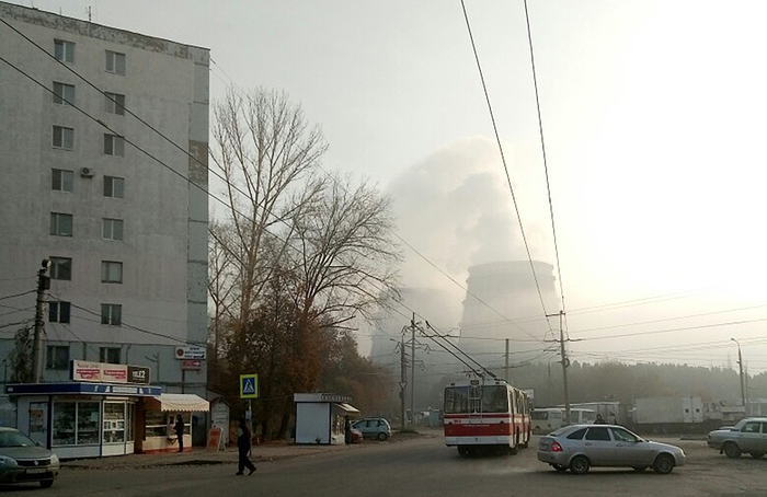 Пятнашка Самара, Троллейбус, Закат, Арт, Photoshop, ТЭЦ