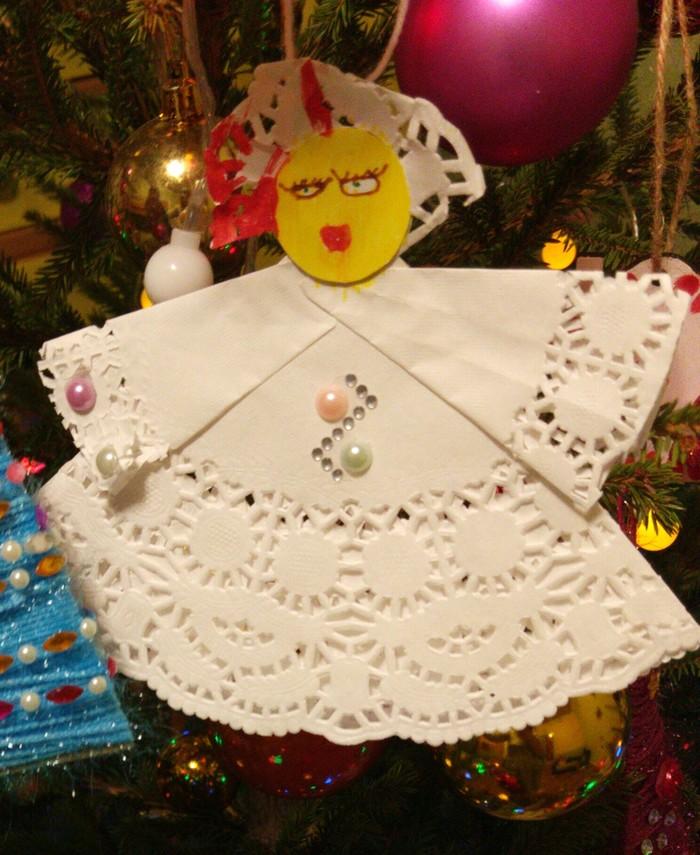 Ангел Новый Год, Рождество, Ангел, Поделка ребёнок