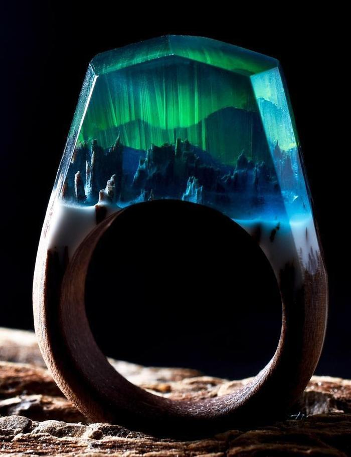 Колечко Кольцо, Аврора, Северное сияние, Искусство, Ювелирное искусство
