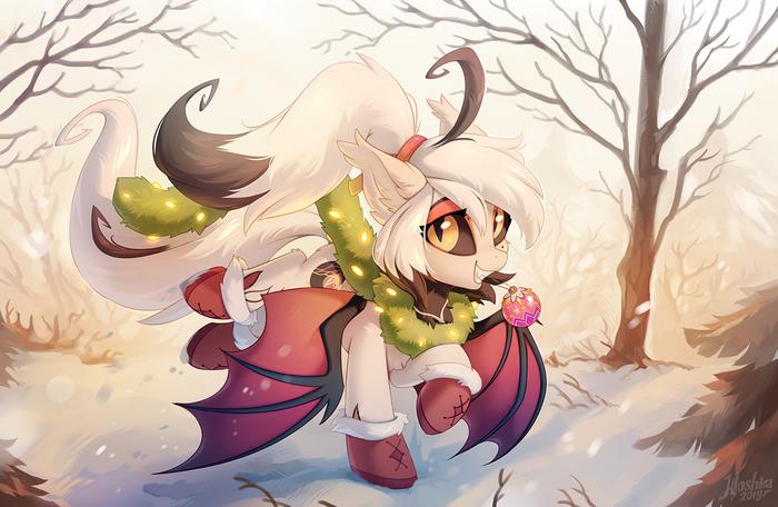 Winter Morning My Little Pony, Original Character, BatPony, Hioshiru