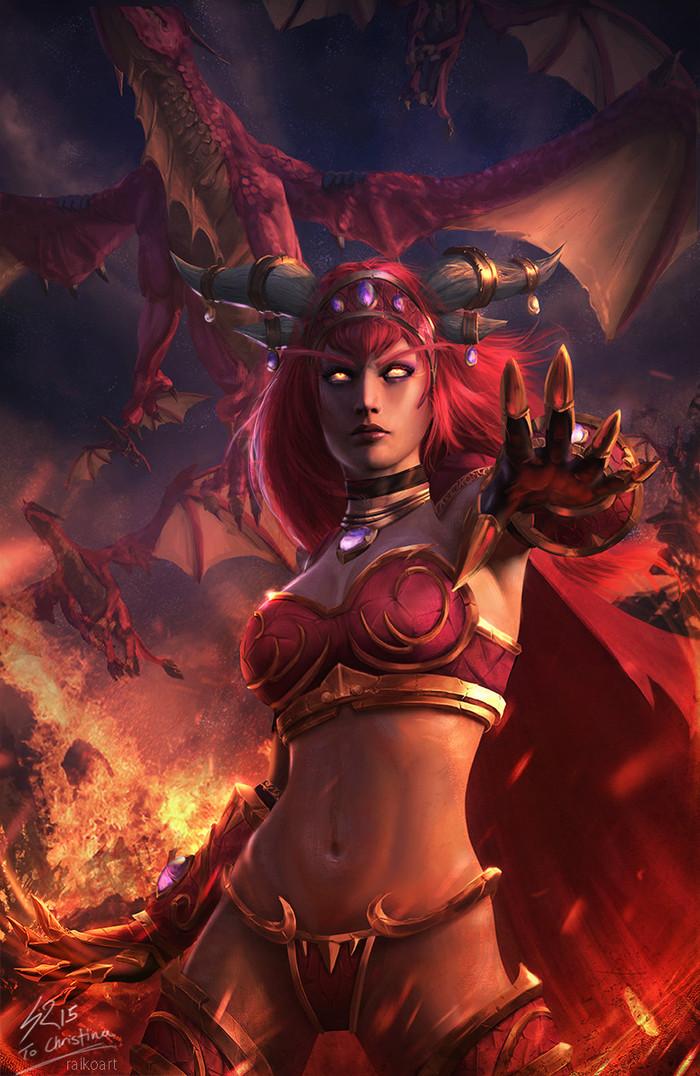 Алекстраза Хранительница Жизни. World of Warcraft, Алекстраза, Арт, Raikoart
