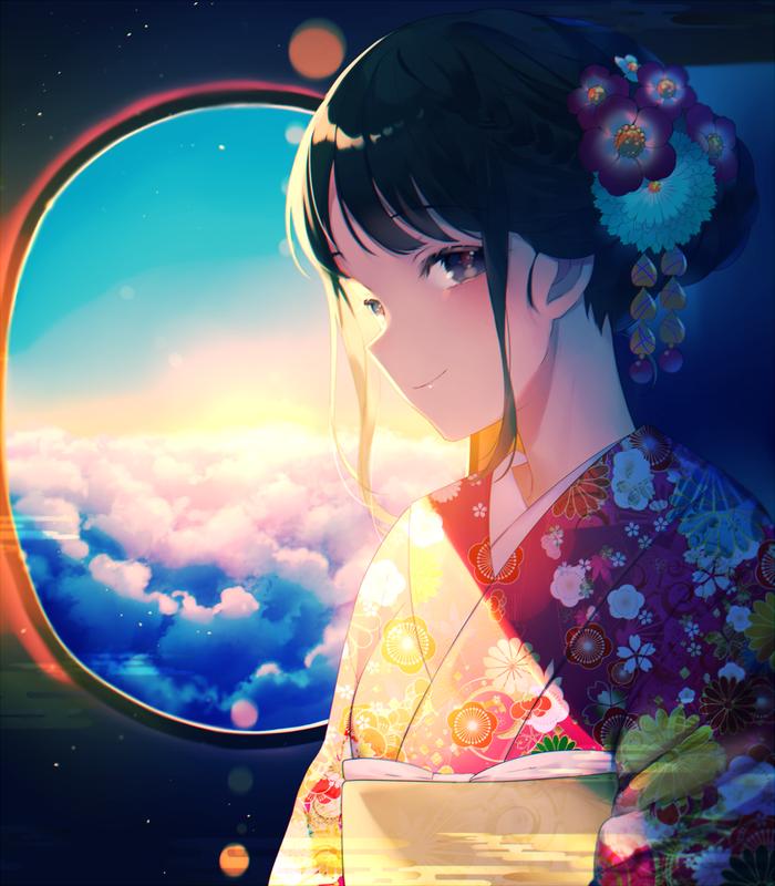 Аниме арты Anime Art, Anime Original, Длиннопост, Achiki
