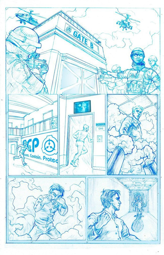 Комикс отAnti-puff по SCP: Contaiment Breach SCP, SCP Art, SCP Containment Breach, Комиксы, Длиннопост