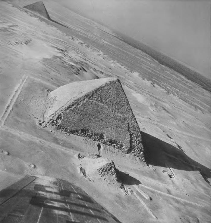 Под крылом самолета Египет, Древний Египет, Пирамида, Некрополь, Снофру, Дахшур, Старое фото, Черно-Белое фото