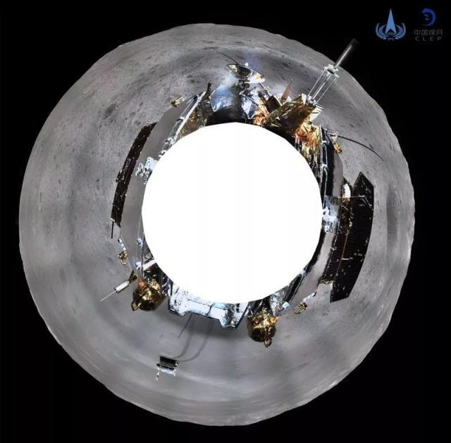 """Китайский аппарат """"Чанъэ-4"""" прислал панорамные снимки обратной стороны Луны Космос, Китай, Луна, Длиннопост, Фотография"""