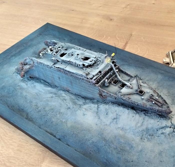 """Затонувший Титаник"" Диорама, Стендовый моделизм, Титаник"