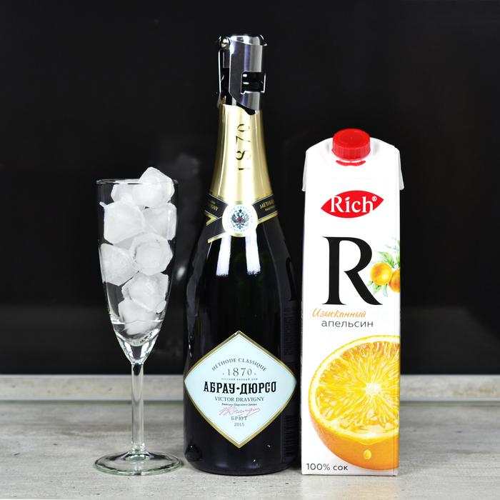 """Коктейль с игристым """"Мимоза"""" Алкоголь, Коктейль, Бар, Рецепт, Длиннопост, Шампанское, Новый год, Мимоза"""