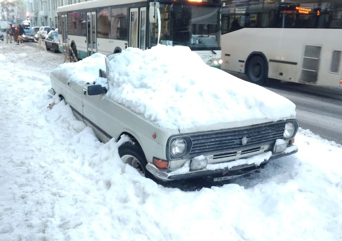 Когда не хочешь терять парковку Парковка, Санкт-Петербург, Зима, Длиннопост