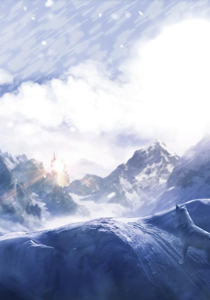 Сильный снегопад Арт, Dota, Зима, Волк