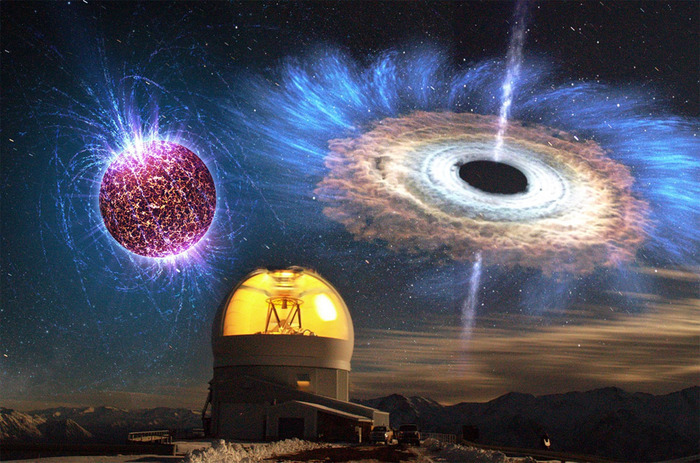 Астрономы продолжают ломать головы над мощным взрывом в далекой галактике Космос, Вселенная, Космический взрыв, Звезда, Черная дыра, Видео, Длиннопост