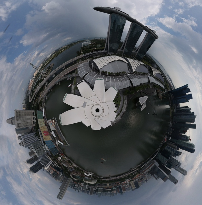 Сингапур: Марина Бэй Сендс Сингапур, Дрон, Квадрокоптер, Видео, Длиннопост