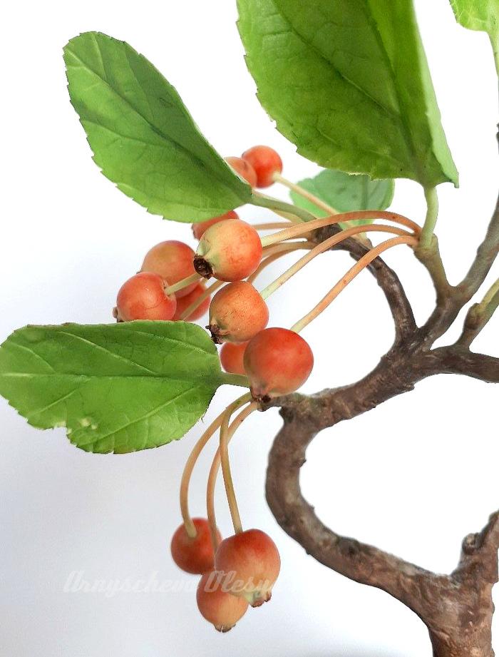 Бонсай яблонька из полимерной глины. Бонсай, Полимерная глина, Яблоня, Рукоделие без процесса, Дерево, Длиннопост, Ручная работа