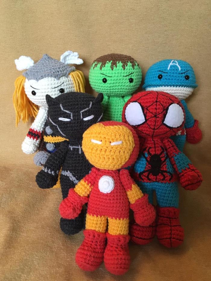 Мстители! Общий сбор! Амигуруми, Рукоделие без процесса, Вязание, Вязаные игрушки, Ручная работа, Handmade, Своими руками, Мстители, Длиннопост