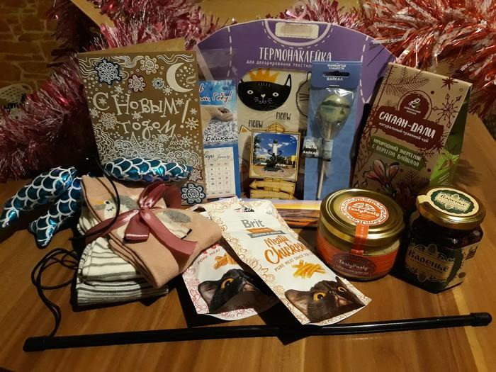 Новогодняя атмосфера из Улан-удэ!,) Тайный Санта, Обмен подарками, Новогодний обмен подарками, Длиннопост, Отчет по обмену подарками, Кот