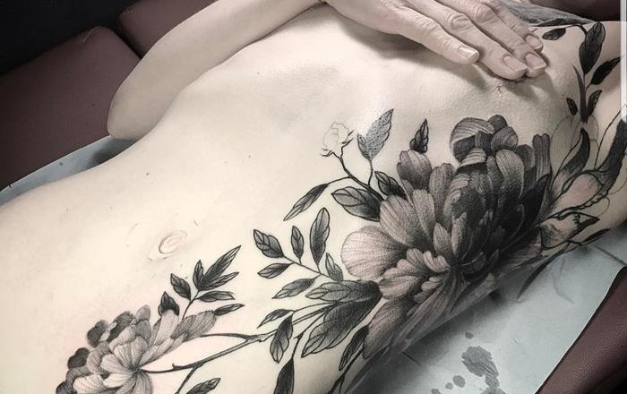 Создание эскиза Без рейтинга, Поиск мастера, Татуировщик, Цветы, Черно-Белое, Эскиз татуировки, Тату, Длиннопост