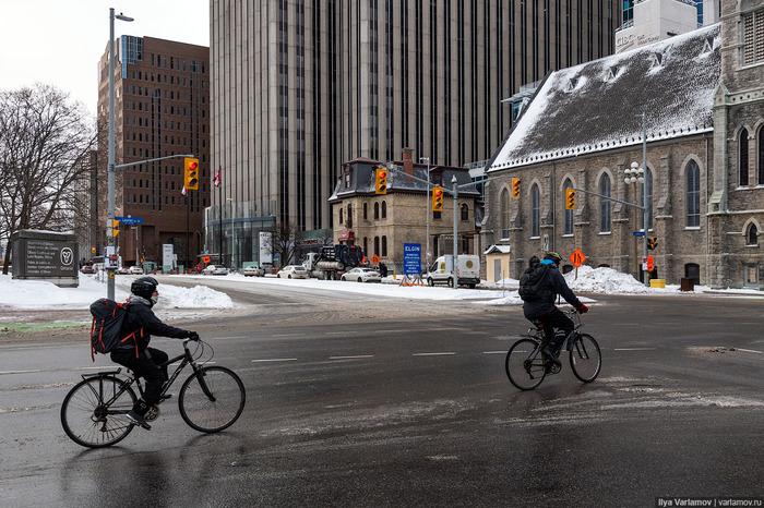 Велоинфраструктура Канады Велосипед, Городская среда, Инфраструктура, Канада, Транспорт, Варламов, Длиннопост