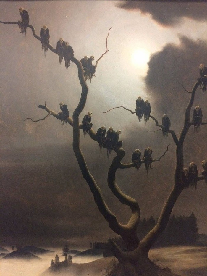 Призраки на дереве Живопись, Сюрреализм, Длиннопост