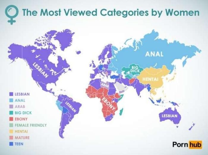И так , продолжаем , кто смотрит ПОРНО ? И какое ПОРНО ? Порно, Сайт, Мир, Статистика, Длиннопост