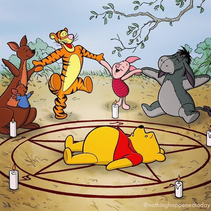 Винни-Пух и все-все-все Арт, Мультфильмы, Винни-Пух, Рисунок, Длиннопост