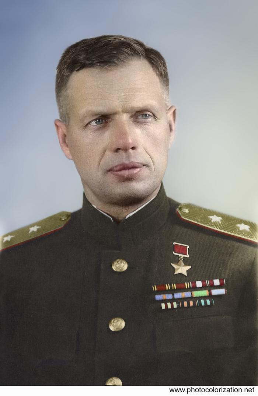 Колоризация. Моя работа. Колоризация, Великая Отечественная война, Генерал Иванов, Длиннопост