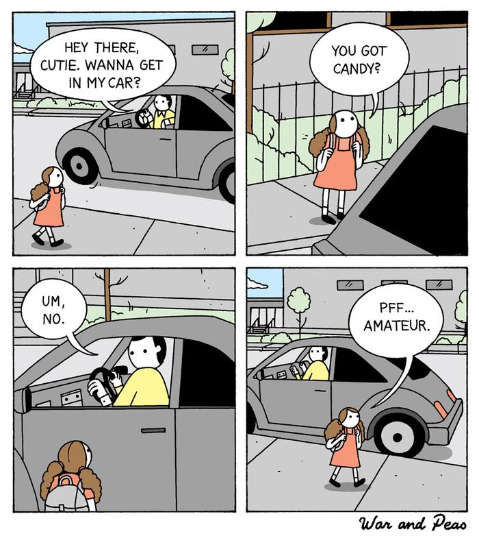 Неправильное похищение. Девочка, Похищение, Комиксы, Прикол, War and Peas