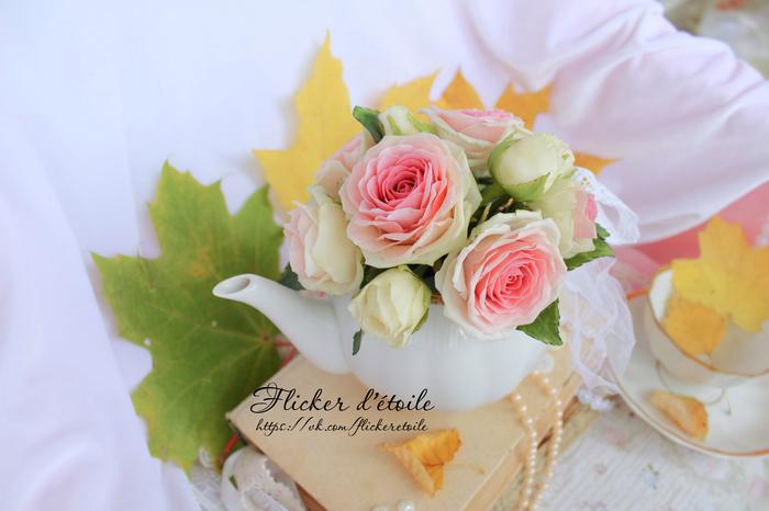 Привет всем! Цветы из холодного фарфора. Интерьерная композиция. Моя работа.) Полимерная глина, Длиннопост, Роза, Цветы, Холодный фарфор, Рукоделие без процесса
