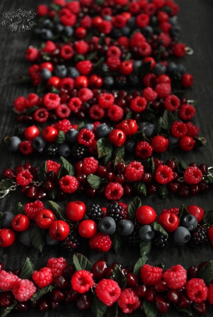 Очень очень ОЧЕНЬ много ягод Полимерная глина, Малина, Длиннопост, Вкусно, Рукоделие без процесса