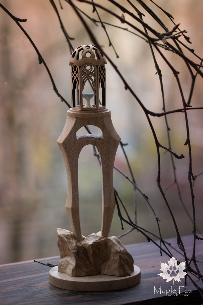 """Сказка, вырезанная из дерева, - шпилька """"Ривенделл"""". Рукоделие без процесса, Резьба по дереву, Толкин, Заколка, Ручная работа, Длиннопост"""