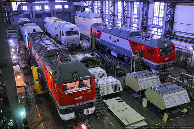Как строят локомотивы Локомотив, Завод, Длиннопост, Коломна