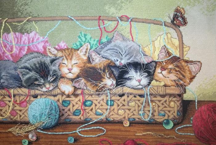 Вышивка с котятами Вышивка, Котята, Рукоделие без процесса