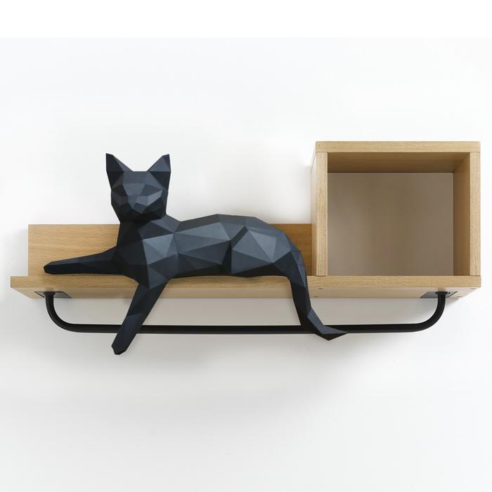 Кошка на полку Papercraft, Ручная работа, Длиннопост, Pepakura, Кот