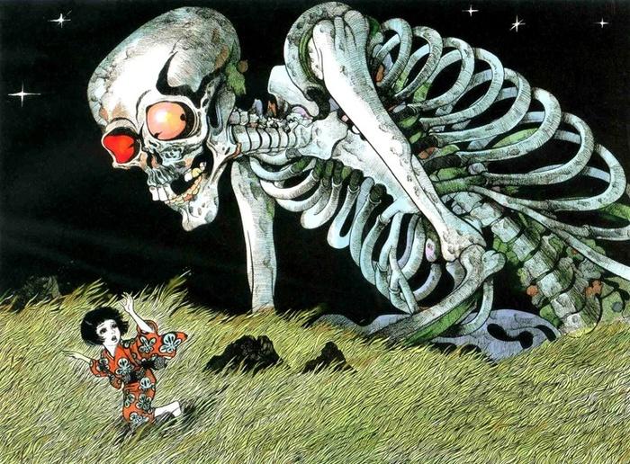 Странные существа из японского фольклора Японская мифология, Япония, Монстр, Чудовище, Призрак, Из сети, Длиннопост, Крипота