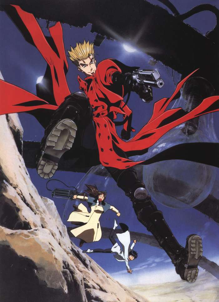 Trigun Аниме, Anime Art, Trigun, Vash the Stampede, Meryl Stryfe, Milly Thompson, Madhouse
