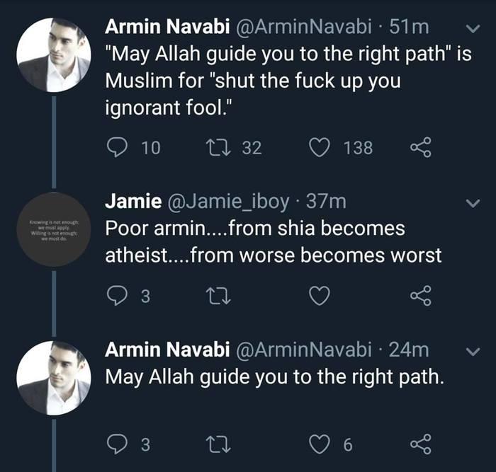 Элегантно Мусульмане, Диалог, Наставление, Эвфемизм, Twitter