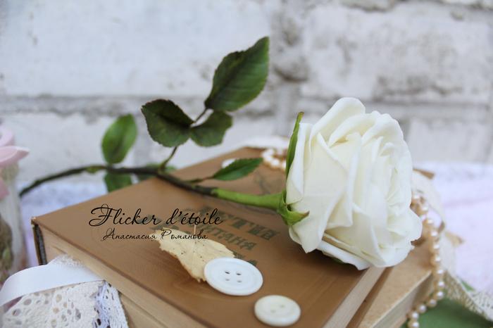 Моя первая роза из холодного фарфора Рукоделие, Полимерная глина, Холодный фарфор, Роза, Длиннопост