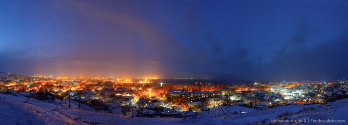 Зима в моем городе Фотография, Зима, Ночь, Город, Панорама, Крым