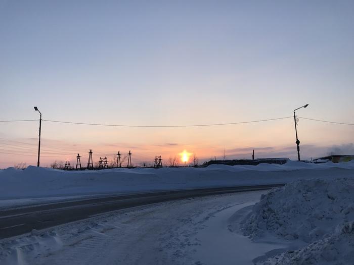 Звезда по имени Солнце Норильск, Солнце, Звезда, Зима, Фотография, Восход, Талнах