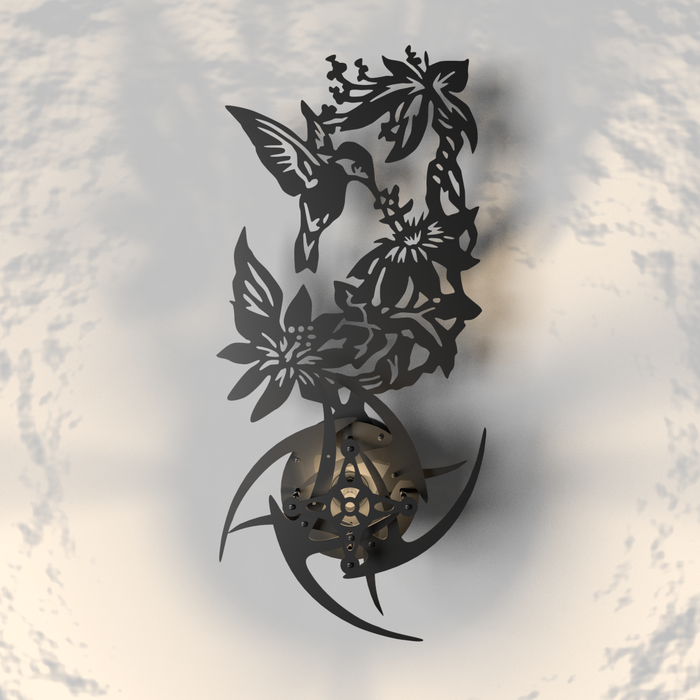 "Настенное панно ""Весна"" (новая версия) Панно, Лофт, 3D, Blender, Весна, Птицы, Цветы, Лазерная резка, Длиннопост"
