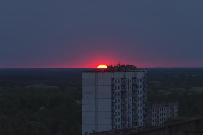 Самый красивый Припятский закат. Припять, Чернобыль, Закат, Фотография, Сталкер