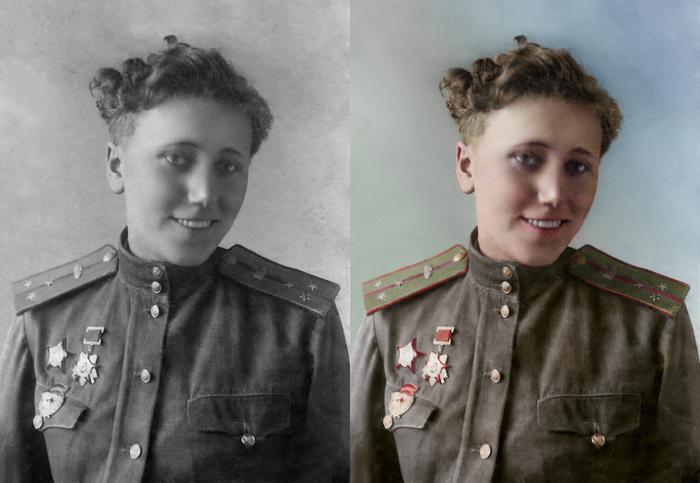 Моя колоризация Колоризация, Великая Отечественная война, т-34, Женщины на войне, Длиннопост
