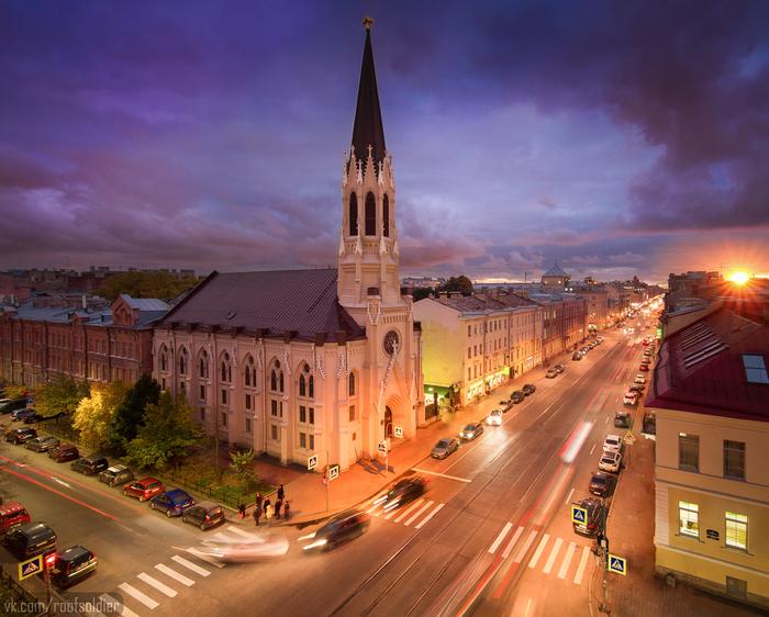 Лютеранская церковь в Петербурге Алексей Голубев, Фотограф, Фотография, Руферы, Санкт-Петербург, Церковь, Архитектура