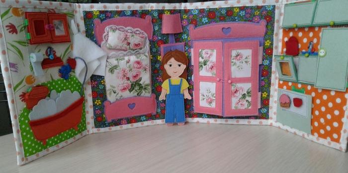 Кукольный домик Фетр, Детям, Кукольный дом, Рукоделие без процесса, Своими руками, Длиннопост