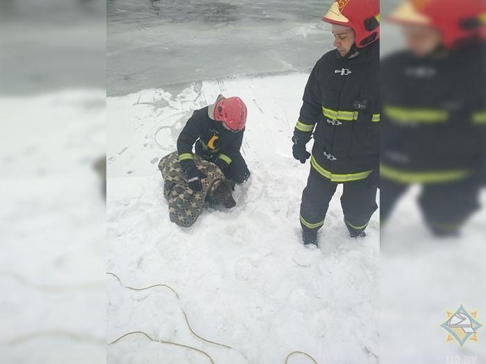 В центре Минска спасли тонувшую собаку. Собака, Минск, Безответственность, Добрые люди, Спасатетели, Видео, Длиннопост