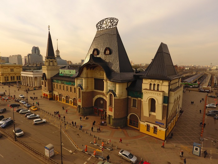 Площадь трёх вокзалов, Москва Фотография, Квадрокоптер, DJI Phantom, Москва, Длиннопост