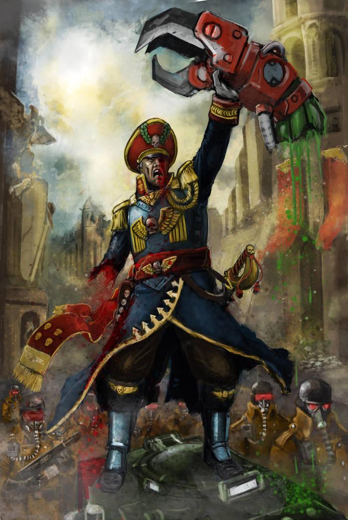 Мой арт по Warhammer 40000. Wh Art, Comissars, Chaos Space marines, Warhammer 40k, Adeptus Astartes, Имперская гвардия, Astra Militarum, Длиннопост