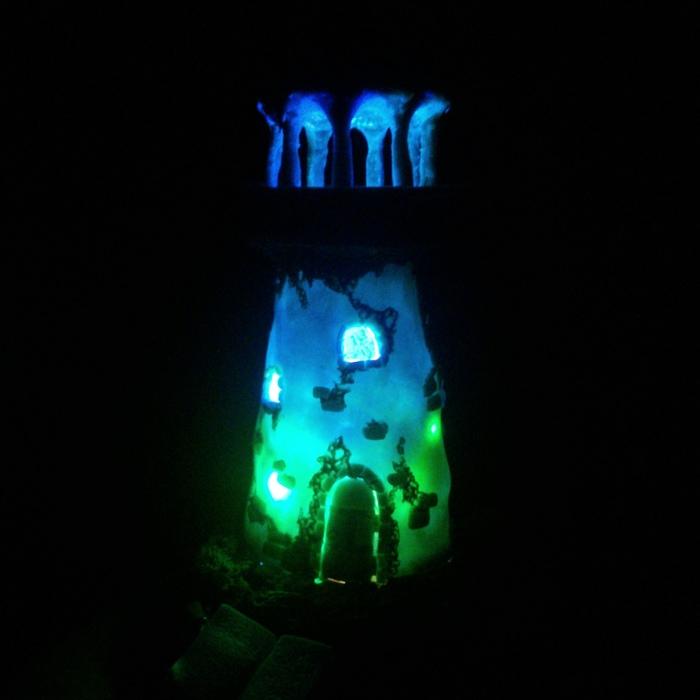 Башня-фонарь в тематике Лавкрафта Полимерная глина, Фонарь, Ктулху, Говард Филлипс Лавкрафт, Маяк, Башня, Рукоделие без процесса, Длиннопост