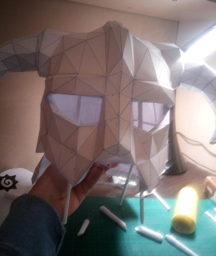 Железный Шлем из TES The Elder Scrolls, Skyrim, Craft, Своими руками, Helmet, Pepakura, Длиннопост