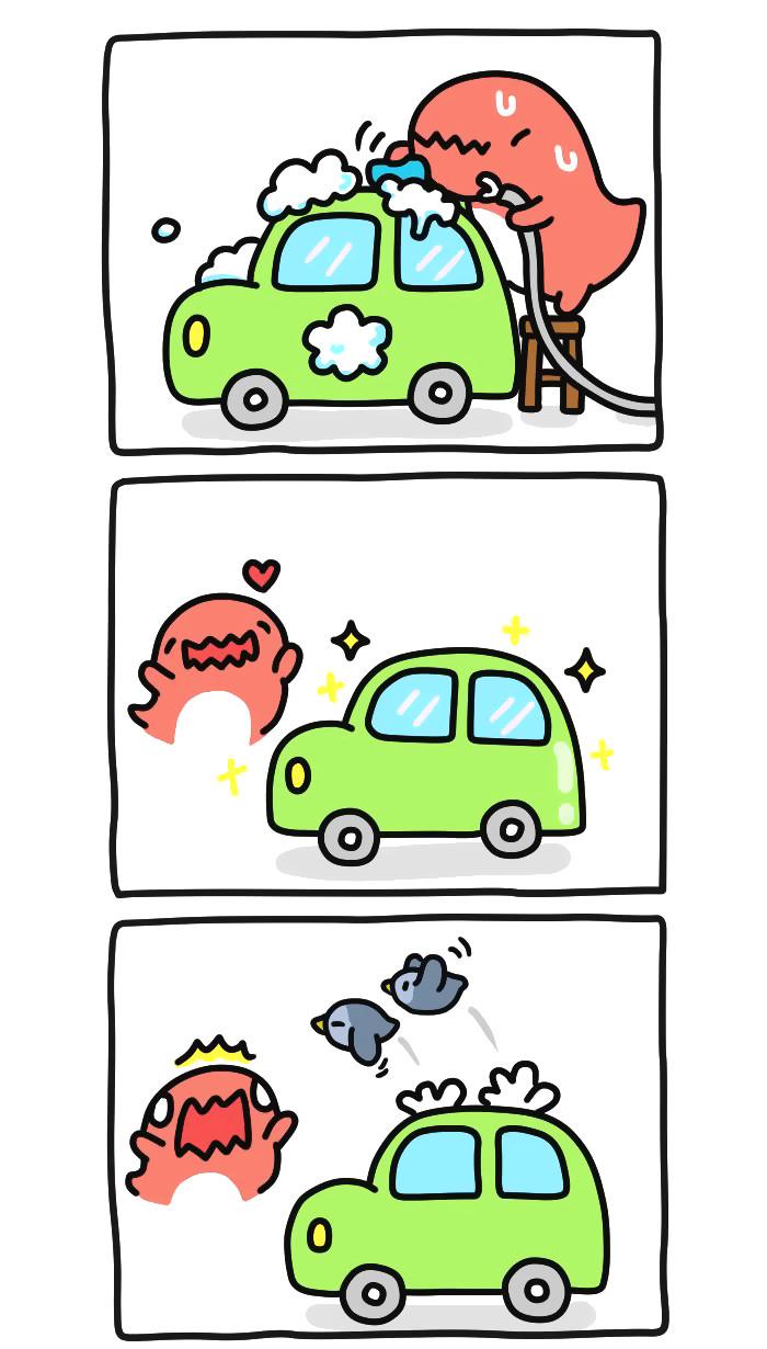 Нет крыши - нет проблем! Bugcat-Capoo, Бракованный кот, Кот, Птицы, Помет, Машина, Авто, Месть, Длиннопост
