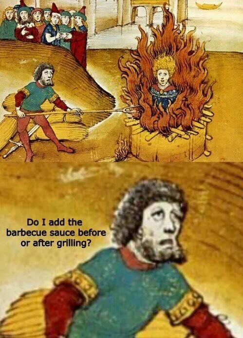 Адская кухня Страдающее средневековье, Костер, Забывчивость